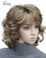 opción Corta Tousled Curls Brown, Auburn, Blonde Full Synthetic Pelucas COLOR CHOICES elección curl curl peluca