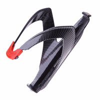 Wholesale carbon bottle holders - Lightweight Carbon Fiber Road Bicycle Bottle Holder MTB Road Cycling Water Bottle Holding Rack Cage New Bicycle Accessories