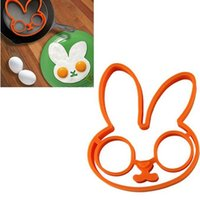 Wholesale fried egg rings online - Silicone Omelette Mold Cartoon Animal Small Rabbit Kitchen Tool Fried Egg Pancake Mould Convenient And Quick Hot Sell mk I1 R