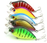 6.5cm 8.4g Artificial Bass Fishing Lures 3d Fish Eye Duro plástico Laser Crank Bait Refletivo Falso Lure Iscas