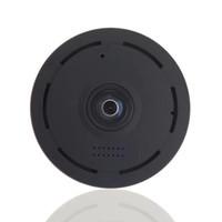 Wholesale panoramic dvr online - IR Night vision Degree Wifi IP Camera HD P Panoramic Monitoring Camera MINI DV DVR Wireless Home Security Surveillance CCTV Camera