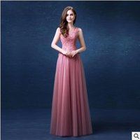 Neue Perlen Kleider Abendgarderobe sexy A-linie Sleeveless Spitze Backless Gestickte Formale Prom Cocktail Party Kleider BallGown Freeshipping