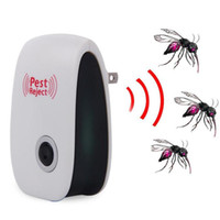 Wholesale Electronic Mosquito Repeller Killer Plug - 2pcs Mosquito Killer Electronic Ultrasonic Pest Repeller Reject Rat Mouse Insect Repellent Anti Rodent Bug Reject Ect EU PLUG