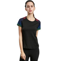 Wholesale Yoga Sports Sleeves - Sports running T-shirt women's round neck short sleeve yoga service fitness service quick dry breathable 2017 new