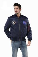 ingrosso giacche da baseball usa-Giacca a vento college college college americano college football americano bandiera americana Air Force bomber giacca da volo per uomo
