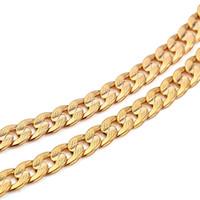 14k enlaces cubanos al por mayor-Classics Men 14k Solid Gold GF Cadena de eslabones cubanos Real Filled Curb Necklace Sin carne No satisfecho con el reembolso