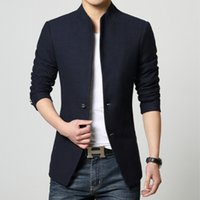 Wholesale Jacket Measuring - Hot Costume Homme Tactical Measure Suit Jackets Casual Single breasted Coat Increase Blazers High Quality Solid Blazer Men