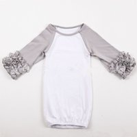 Wholesale O Bag - 18colors Infant sleep cloth Baby girl boy Cotton Gowns Ruffle Reglan Gown Long Sleeve sleep bag for 0-2T