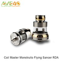 Wholesale chambers design - Coil Master Monstruito Flying Sancer RDA Tank with an Innovative Glass Chamber Design and Enlarged Air Holes 100% Original