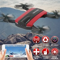 Wholesale New Mini Camera Drone Selfie Foldable Rc Drone With Wifi FPV Camera Altitude Hold Headless Mode RC Quadcopter Toys for Kid Retail Package