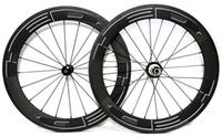 складывающиеся велосипедные диски оптовых-Urltra-свет 451 полный углерода 50 мм глубина складной велосипед wheelset 20 дюймов велосипед clincher 21 мм ширина углеродные колеса с powerway R36 концентратор