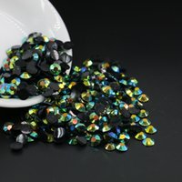 Wholesale Rainbow Gems - SS12-SS30 Metallic Rainbow Vitrail Resin Flat Back Rhinestones, 14 Facets Resin Rhinestone Gems DIY All Size 3 4 5 6mm