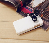 Wholesale Iphone5 Zoom - IZZI Premium Case for iphone 4-in-1 Rotary type Photo Lens Fish Eye+Wide Angle+Macro Lens+ 2x Zoom Telescope for iPhone5 6 6Plus