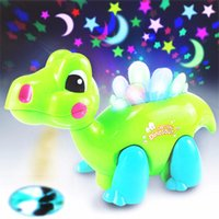 Atacado- Brand New Cartoon Dragon Musical Shining Dancing Educacional LED Light-Up Brinquedos Brinquedos Brinquedos Kids Baby Gift para crianças