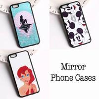 Wholesale La Iphone Cases - Cute Mirror Mickey Mouse Mermaid Princess La Petite Sirene Phone Case Fundas For iPhone 4 5 6 7 S SE Plus SE 5C