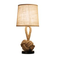 Wholesale Iron Hand Warmer - Vintage American Personality Rope Table Lamp AC 90-260V Loft Creative Industrial Lamp Edison Bulb Retro Table Light DIY Lighting