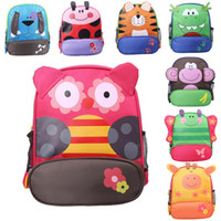 Wholesale Cute Tote Bags For Kids - Kids Cartoon Animal Shoulder Bags Boys Girls Cute Fashion Backpacks Schoolbags Children Baby Toddler Canvas Handbag Tote Bags For Students