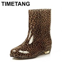 Wholesale Lace Up Rain Boots Women - Wholesale-Free shipping New fashion Womens Rain boots candy Transparent Low Heels Water Shoes for Female Retro Martin Rain Boots