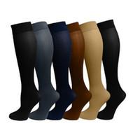 Wholesale cotton football socks online - Sports Socks Stockings Anti Venous Sock Colourful Nylon Pressure Stocking Open toe Wrap Toes Popular Fashion ys