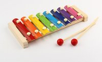 Wholesale Wooden eight tone piano piano children s toys wooden children enlightenment early xylophone percussion instrument personalized
