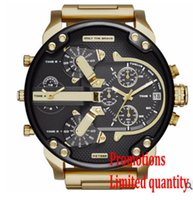 Wholesale 29 Alloy Frame - luxury Men Big dial Watch Top quality Stainless steel strap Alloy frame Quartz watches Holiday gifts