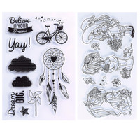 Wholesale Cartoon Photo Album - New Transparent Clear Silicone Stamp Seal For DIY Scrapbooking photo Album Decorative Rubber Stamp Sheets #94565