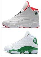 Wholesale White Plush Cat - Best quality air retro 13 men basketball shoes DMP Discount Barons All Red Chicago black cat DMP Barons Flint He Got Game Sneaker