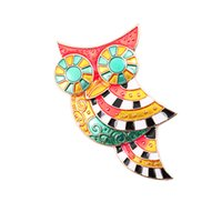 Celtic owl lapel pins - Hot Colorful Enamel Owl Brooch Corsage Scarf Clip Brooches Lapel Pin Broches Jewelry Women Lady Sweater Hats Buckles