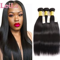 Wholesale cheap silky human hair weave online - Peruvian Cheap Hair Extensions Bundles Silky Straight Hair Unprocessed Human Hair Wefts Pieces One Set Virgin Weave Bundles