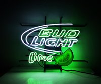 ingrosso neon luminoso di bud-Nuovo pneumatico Tat Neon Beer Sign Bar Sign Vetro reale luce al neon Beer Sign ME672 bud lime 17 * 14 pollici
