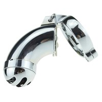 Wholesale Hot Penis Cover - 2017 Hot sale stainless steel Full-cover male chastity lock electroplate Penis Lock masturbation therapy products Sex toys CB014