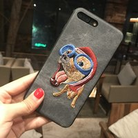 Wholesale Iphone Cartoon Cases Order - 2017 New Mix Order Fashion Cute Animal Embroidered Imitation Leather All Adorable Pet Cartoon Mobile Phone Shell