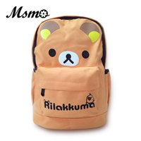 Vente en gros- Sac de l'école des enfants de MSMO Kawaii San-X Rilakkuma Sac à dos Lovely Cartoon Backpack Cadeau de Noël NEW Year Presents