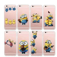 Wholesale Despicable Phone Case Cover - Latest Silicon Cover Despicable Me Case For Apple iPhone 5 5s 6 6s Soft Clear Phone Shell for iphone 7
