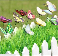 Colorful Wings Big Butterfly Stakes Jardim ornamentos Party Supplies Decorações para Outdoor Garden Fake Insects frete grátis