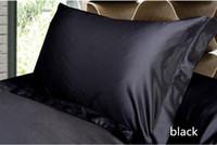 taies d'oreiller en satin achat en gros de-Solid Color Silk Pillow Cases Double Face Enveloppe Design Taie d'oreiller de haute qualité Charmeuse Silk Satin Pillow Cover Prix de l'usine