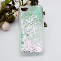 iphone schwimmender glitterfall großhandel-100 stücke schwimmende glitter fällen für iphone x zehn 6 plus herz quicksand flüssigkeit für samsung on5 g5 k7 k10