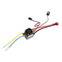 Wholesale Esc Brush Rc - Waterproof Brushed ESC 320A 3S with Fan 5V 3A BEC T-Plug For 1 10 RC Car Free Shipping