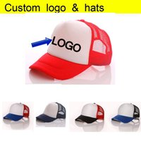 Wholesale Sun Cap Discount - Free DLY LOGO Aduit Trucker Caps Patchwork Candy Color Summer Sun Hats Baseball hat 50% Discount Free Logo for wholesale Printing Mesh Cap