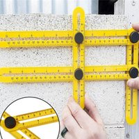 Wholesale Practical Multifunctional Four Folding Plastic Ruler Metric Scale Measuring Angle Ruler With Durablity and Flexibility