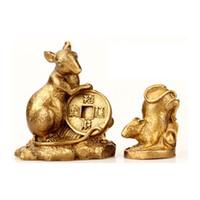 statuen tiger großhandel-Glück Feng Shui Ratte Chinesisches Sternzeichen Tiere Statuen Figuren Fengshui Ratte Ochse Tiger Hase Drache Schlange Pferd Ziege Affe Hahn Hund Schwein