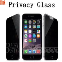 Wholesale For Iphone Privacy Screen Protector film Anti Spy Real Tempered Glass For Iphone S Fast DHL With Retail Package