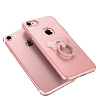 Wholesale Easy Fit Brands - Case finger ring stand for iphone 8 7 Plus 5.5inch 360 degree protect case bracket function easy hold convenient operate