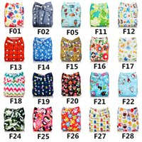 Wholesale Floral Couches - 2017 new U PICK AABABY Cloth Diapers Reusable Washable Pocket Nappies+ MF Inserts Lot Baby Nappies Couches free shpping CT08015