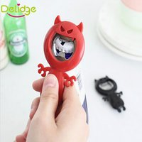 Wholesale Devil Opener - Delidge 20 pcs Devil Shape Bottle Opener Creative Candy Colors Opener Bottle Beer Openers Funny Devil Corkscrew Wine Opener