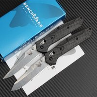 Wholesale Pocket Fishing - benchmade butterfly BM940 BM943 BM 940 940-1 943 D2 blade Carbon fiber AXIS Hunting Folding Pocket Knife Survival Knife Xmas gift 1pcs