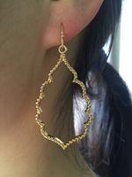 ingrosso orecchini di goccia dell'oro di 18k-Orecchini in filigrana d'argento nero oro rosa in oro nero Orecchini a pendaglio in oro con gemme e orecchini pendenti per donna