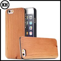 Wholesale Iphone Original Protector - Original Ecolog True Wood Bamboo Case Cellphone Cover For iPhone6 7 iPhone6 Plus 7 Plus Solid Cherry Wooden PC Edge Protector Phone Shell