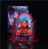 Wholesale Dragon Ball Hair - Anime Dragon Ball Super Son Goku Figure Super Saiyan God Kaiouken Goku Blue Hair Model Toy 17CM