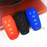 Silicone Smart 5 Buttons Key Fob Housse de protection pour Ford F-150 LINCOLN FUSION MKZ MUSTANG MKC